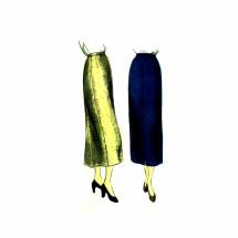 1940s Slim Straight Skirt Vogue 6723 Vintage Sewing Pattern Waist 28 Hip 37
