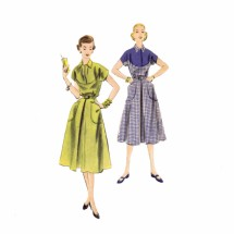 1950s Womens Dress Vogue 7575 Vintage Sewing Pattern Size 16 Bust 34