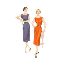 1950s Womens Scoop Neck Dress or Jumper Vogue 7787 Vintage Sewing Pattern Size 16 Bust 34