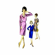 1960s Sheath Dress Vogue 5776 Vintage Sewing Pattern Size 14 Bust 34