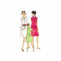 1960s Semi-Fitted Aline Shirtdress Vogue 7348 Vintage Sewing Pattern Size 12 Bust 34