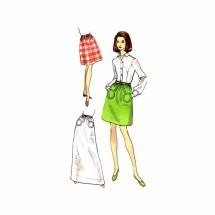 1960s Misses Skirt Vogue 7539 Vintage Sewing Pattern Waist 23