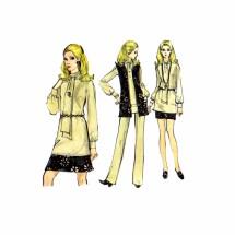 1970s Misses Skirt Pants Blouse Jacket Vogue 7781 Vintage Sewing Pattern Full Figure Size 16 Bust 38