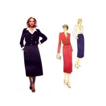 Don Sayres Jacket Skirt Blouse Vogue 2115 Vintage Sewing Pattern Size 10 Bust 32 1/2