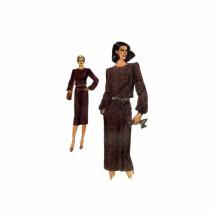 1970s Misses Dress Top Skirt Vogue 7493 Vintage Sewing Pattern Size 10 Bust 32 1/2