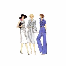 Misses Dress or Top with Pants Vogue 9432 Vintage Sewing Pattern Size 12 Bust 34