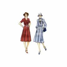 1970s Misses Shirtwaist Dress Vogue 9742 Vintage Sewing Pattern Size 10 Bust 32 1/2