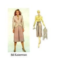 Bill Kaiserman Jacket Skirt Blouse Vogue 2365 Vintage Sewing Pattern Size 14 Bust 36