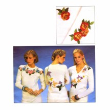 Heat Transfer Embroidered Sweaters Vogue 2633 Vintage Embroidery Pattern