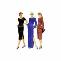 1980s Misses Top Skirt Dress Vogue 7559 Vintage Sewing Pattern Size 10 Bust 32 1/2