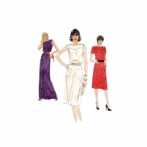1980s Misses Loose Fitting Pullover Dress Vogue 7719 Vintage Sewing Pattern Size 10 Bust 32 1/2