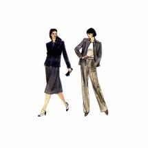 Misses Jacket Pants Skirt Vogue 7840 Vintage Sewing Pattern Size 10 Bust 32 1/2