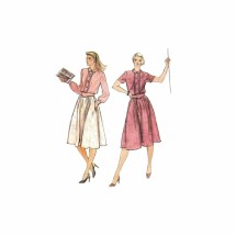 1980s Misses Loose Fitting Blouson Dress and Belt Vogue 7912 Vintage Sewing Pattern Size 10 Bust 32 1/2