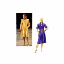 1980s Misses Notched Collar Dress Shirtdress Vogue 8885 Vintage Sewing Pattern Size 10 Bust 32 1/2