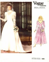 Vogue 1092 Bridal Dress & Petticoat Size 6 - Bust 30 1/2