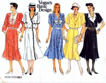 Vogue 1551 Sewing Pattern Flared Blouson Dress Size 8 - 10 - 12