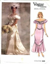 Vogue 1828 BRIDAL ORIGINAL Wedding Bridesmaids Dress Gown Size 14