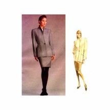 1980s Calvin Klein Jacket Skirt Suit Vogue 2002 Vintage Sewing Pattern Size 10 Bust 32 1/2
