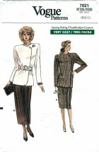 Vogue 7021 Jacket Skirt Suit Size 6 - 10 - Bust 30 1/2 - 32 1/2