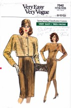 Vogue 7042 Sewing Pattern Misses Jacket Dress Size 8 - 10 - 12