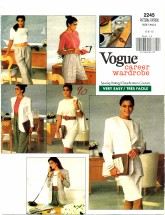 Vogue 2245 Jacket Dress Top Shorts Pants Size 6 - 10 - Bust 30 1/2 - 32 1/2