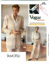 Vogue 2338 TAMOTSU Jacket Shirt Pants Size 8 - 12 - Bust 31 1/2 - 34