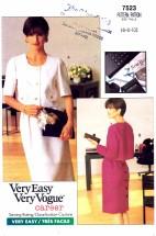 Vogue 7523 Top & Skirt Size 6 - 10 - Bust 30 1/2 - 32 1/2