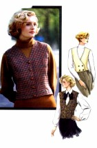 Vogue 7624 Sewing Pattern Misses Classic Vest Size 6 - 8 - 10
