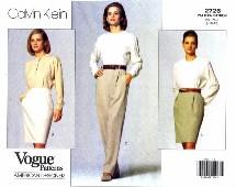 Vogue 2726 Designer Calvin Klein Skirt & Pants Size 8 - 12