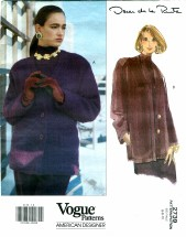 Vogue 2739 Oscar de la Renta Jacket Size 6 - 10 - Bust 30 1/2 - 32 1/2