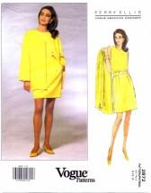 Vogue 2872 Perry Ellis Jacket Skirt Top Size 8 - 12