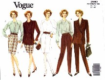 Vogue 2990 Jacket Dress Blouse Skirt Pants Size 8 - 12 - Bust 31 1/2 - 34