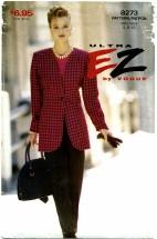 Vogue 8273 Jacket Pants Suit Size 6 - 10 - Bust 30 1/2 - 32 1/2