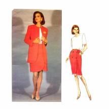 Misses Jacket Skirt Top Designer Hartnell Vogue 1086 Sewing Pattern Size 8 - 10 - 12