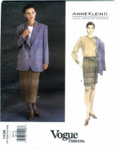 Vogue 1436 ANNE KLEIN II Jacket & Skirt Size 6 - 10 - Bust 30 1/2 - 32 1/2