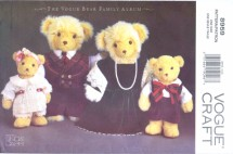 Vogue 8959 Crafts Sewing Pattern Bear Family Wardrobe