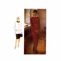 1990s Misses Jacket Pants Skirt Vogue 9104 Sewing Pattern Size 8 - 10 - 12
