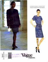 Vogue 1547 Geoffrey Beene Jacket & Dress Size 8 - 12 - Bust 31 1/2 - 34