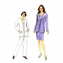 1990s Misses Jacket Skirt Pants Vogue 9177 Sewing Pattern Size 8 - 10 - 12
