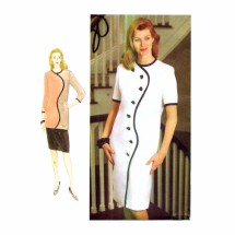 1990s Womens Dress Tunic Skirt Vogue 9219 Sewing Pattern Size 8 - 10 - 12