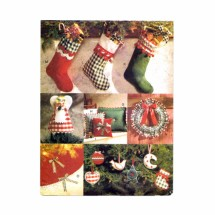 Christmas Ornament Pillow Stocking Tree Skirt Wreath Vogue 9334 Sewing Pattern