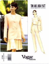 Vogue 1738 American Designer Tom & Linda Platt Misses Jacket Top Skirt Pants Suit Size 6 - 10