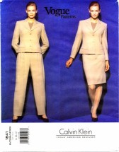 Vogue 1841 Calvin Klein Jacket Skirt Pants Size 8 - 12 - Bust 31 1/2 - 34
