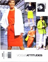 Vogue 1898 Designer Jennifer George Jacket Top Dress Skirt Pants Suit Size 8 - 12