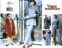Vogue 1902 Jacket Dress Top Skirt Pants Size 8 - 12 - Bust 31 1/2 - 34
