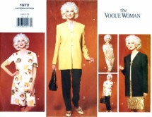 Vogue 1972 Womens Jacket Dress Top Shorts Pants Wardrobe Sewing Pattern Size 14 - 16 - 18