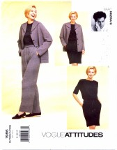 Vogue 1986 Isaac Mizrahi Jacket Dress Pants Belt Size 8 - 12