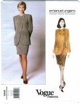 Vogue 1996 Emanuel Ungaro Jacket Skirt Suit Size 8 - 12 - Bust 31 1/2 - 34