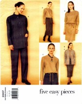 Vogue 2007 Sewing Pattern Jacket Dress Top Skirt Pants Size 14 - 16 - 18