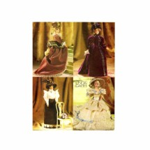 Fashion Doll Historical Gowns Costumes Doll Clothes Vogue 9759 Sewing Pattern Fits 11 1/2 inch Dolls